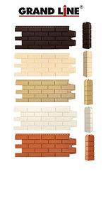 Фасадные панели Клинкерный кирпич, серия Стандарт (моноцвет) Grand Line