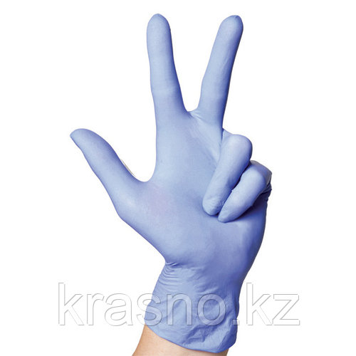 Перчатки S 100шт винило-нитрил Blend Gloves голубые