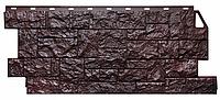 Фасадные панели Коричневый 1123x465 мм ( 0,44 м2) Камень дикий  FINEBER