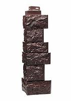 Угол Наружный Коричневый 485х143х143 мм Камень дикий  FINEBER