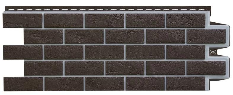 Фасадные панели Шоколадная 1000x390 мм Состаренный кирпич Серия Премиум Grand Line