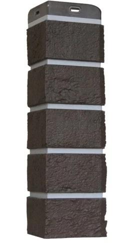 Угол Наружный Шоколадная 390 мм Состаренный кирпич Серия Премиум Grand Line