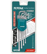 Набор ключей имбусовых TORX Т10-Т50, 9шт,экстра удлиненные TOTAL арт.THT106391