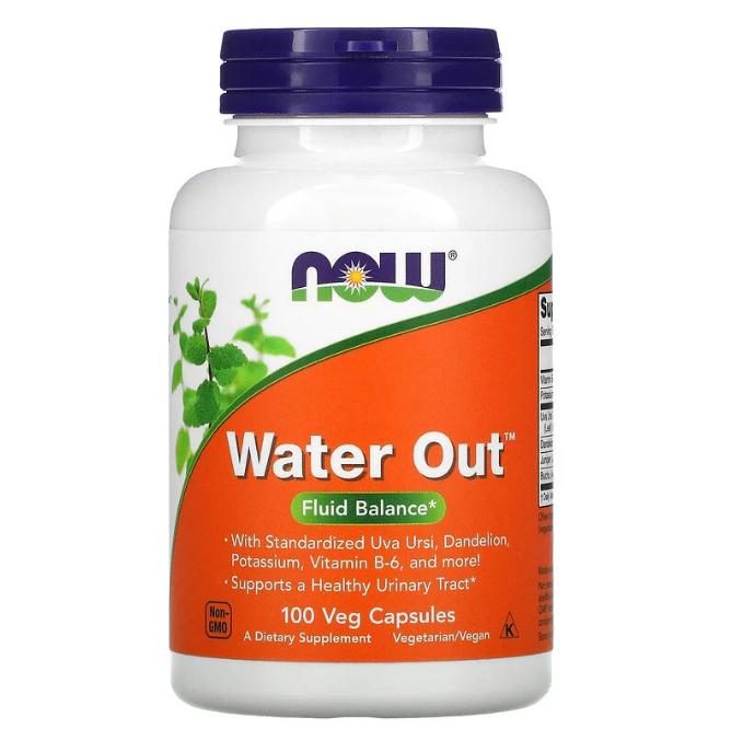 Now Foods, Water Out, водный баланс, 100 растительных капсул
