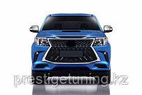 Передний бампер в сборе на Toyota Hilux/Vigo 2012-15 стиль Lexus