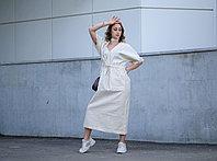 Льняное платье свободного кроя