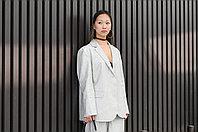 Женский льняной пиджак в стиле оверсайз