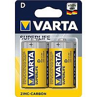 Батарейки солевые VARTA Superlife D/R20, 2шт