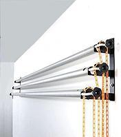Роликовое крепление для 3-х фонов. Универсальные\ на стойки/стену/потолок на 48мм