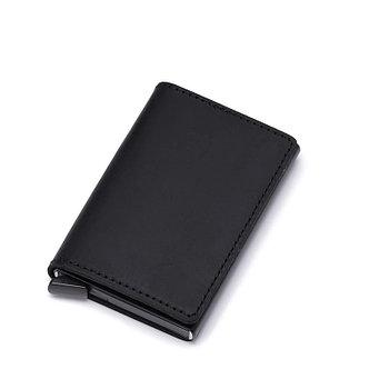 Кожаный картхолдер с RFID защитой
