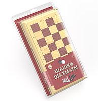 """""""Шашки-шахматы"""" в бежевой пластиковой коробке (большие), фото 1"""