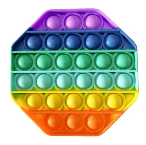 Многоугольник радужный антистресс попит Pop It силиконовый