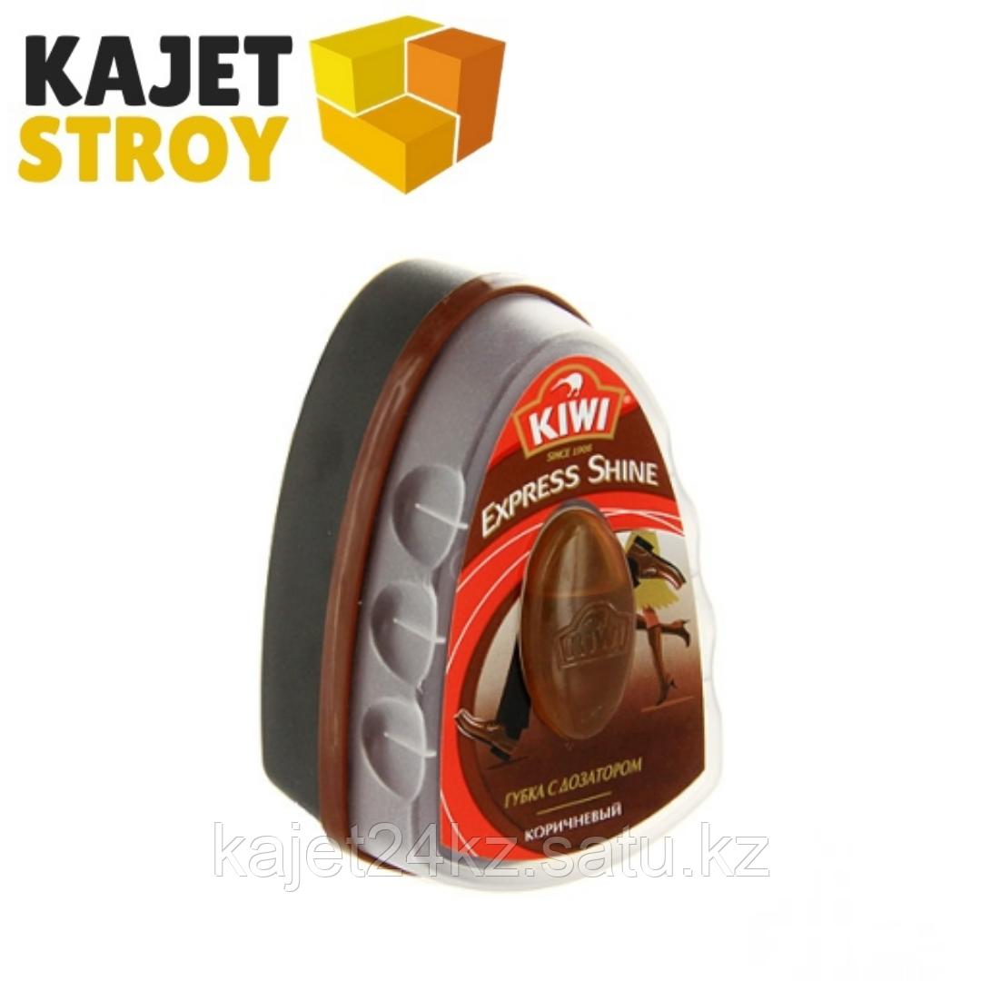 КИВИ Экспресс губка с дозатором коричневая, 6мл