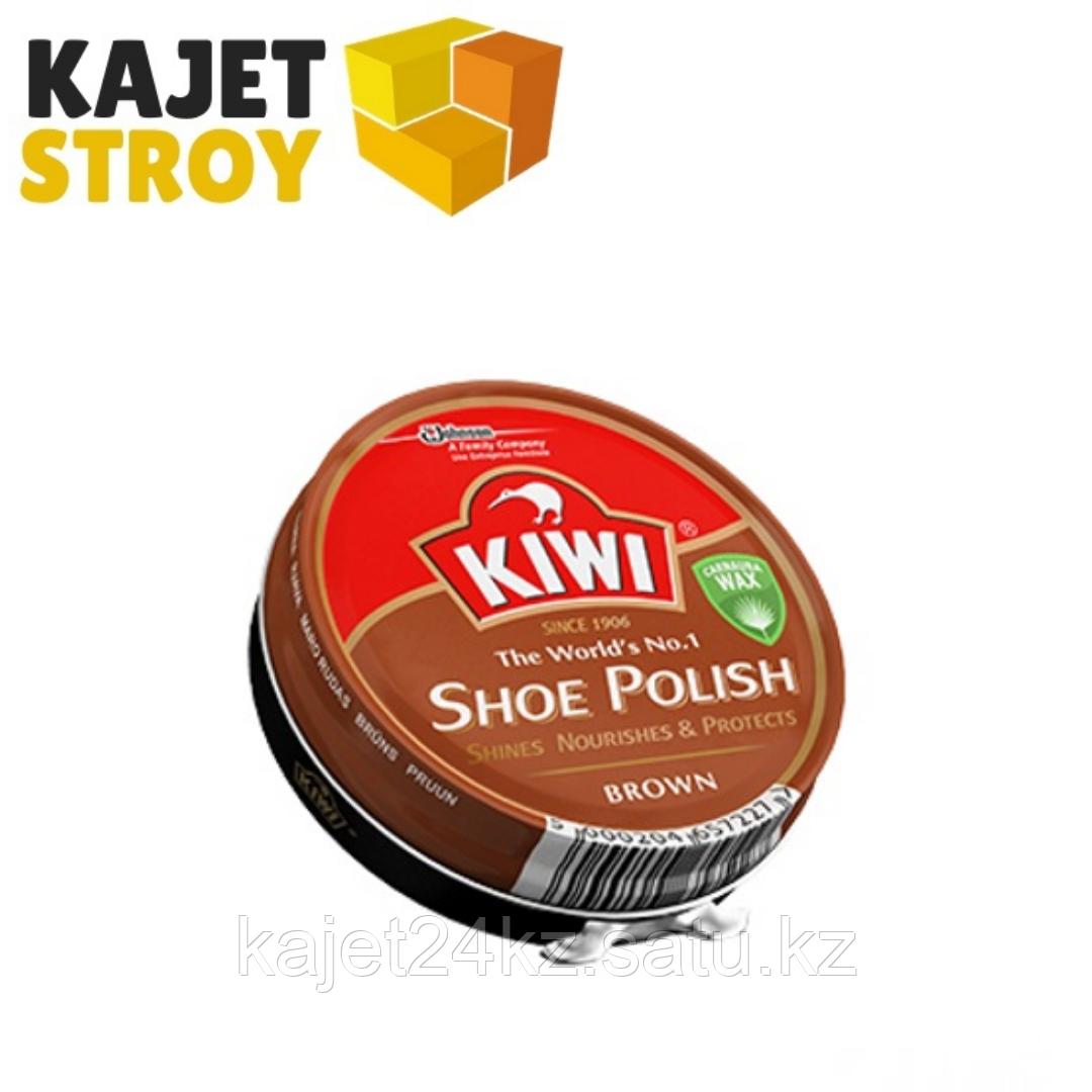 Крем KIWI для обуви коричневый 50мл