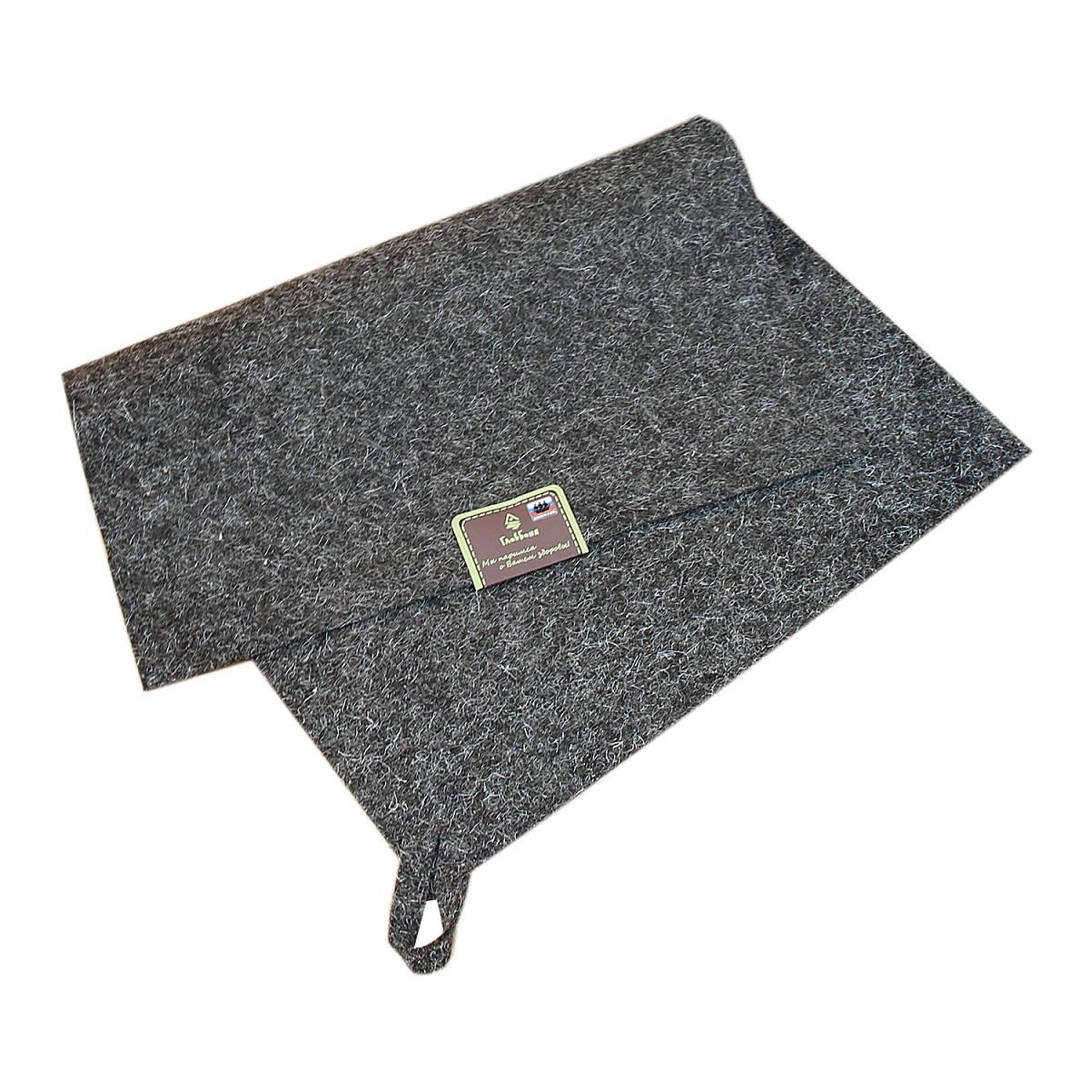 Коврик д/бани и сауны, войлок серый, 38х52см