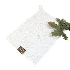 Коврик для бани и сауны, 30х40см, войлок белый
