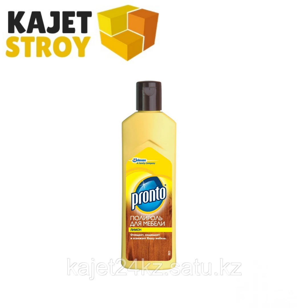 Полироль PRONTO для мебели крем лимон 300гр