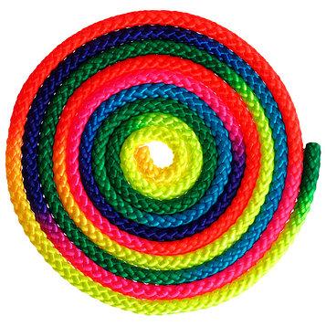 Скакалка для гимнастики 3 м, цвет радуга