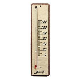 Жидкостный термометр для бани прямоугольный