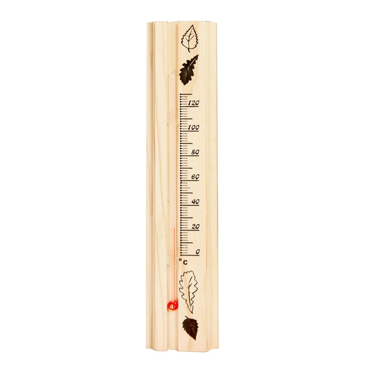 Термометр д/бани, жидкостный, 200х42х18мм