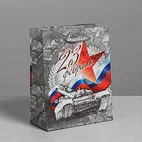 Пакет ламинированный вертикальный «С Праздником 23 февраля!», S 12 × 15 × 5,5 см