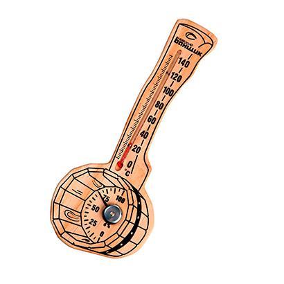 """Термометр-гигрометр для бани и сауны """"Веники и шайка"""""""
