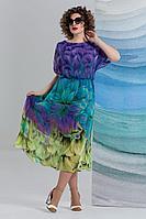 Женское летнее шифоновое нарядное большого размера платье Avanti Erika 1193 52р.