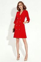 Женское осеннее красное деловое платье Панда 13780z красный 42р.