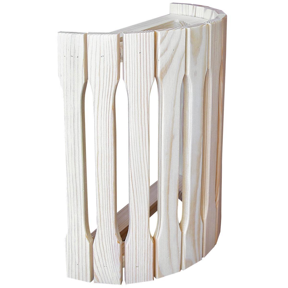 Абажур деревянный для бани и сауны, настенный