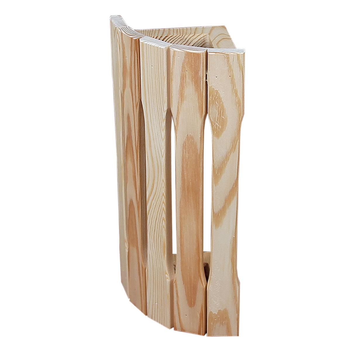 Абажур деревянный для бани и сауны, настенный, угловой