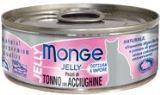 Monge Jelly 80г желтоперый тунец с анчоусами в желе Влажный корм для привередливых кошек