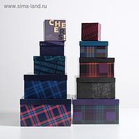 Набор подарочных коробок 10 в 1 «Мужской», 10.2 × 10.2 × 6 28.2 × 28.2 × 15 см