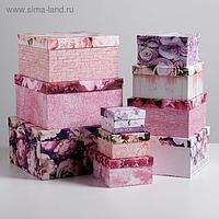 Набор подарочных коробок 10 в 1 «Цветочный», 10.2 × 10.2 × 6 28.2 × 28.2 × 15 см