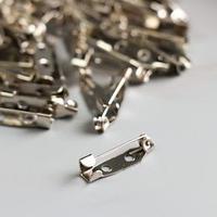 Основа для творчества 'Значок с булавкой' набор 60 шт серебро 0,5х2 см