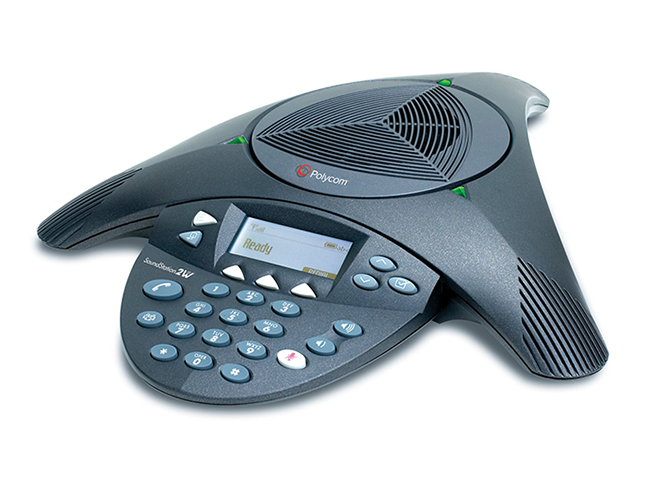 Аудиоконференция Polycom SoundStation2 аналоговый конференц телефон нерасширяемый с дисплеем
