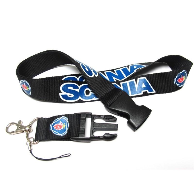 Шнурок на шею для ношения телефона, ключей и др. SCANIA