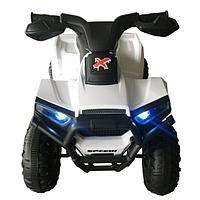 PITUSO Электроквадроцикл 6V/4.5Ah,20W*1,колеса пластик,свет,муз.,амортиз.,68*42*45 см,Белый/WHITE