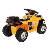 PITUSO Электроквадроцикл 6V/4.5Ah*1,20W*1,колеса пласт,MP3,свет,муз,78*50*47 см,Желтый/YELLOW, фото 1
