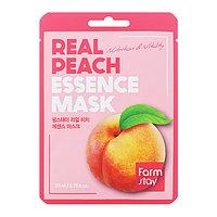 Смягчающая тканевая маска с персиком, FarmStay Real Peach Essence Mask