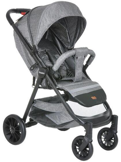 Прогулочная коляска Pituso Toledo Jeans Grey/Серый металик