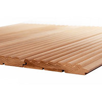 Вагонка термо-осина 'Волна', кат. Экстра, (деревянные обои), (1-1,8 м)