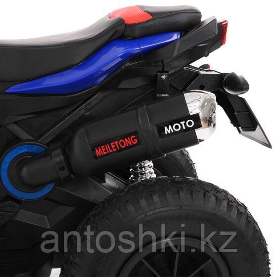 PITUSO Электромотоцикл HLX2018/2, 12V/7Ah*1,колеса надув.,108х46х76 см, Blue/ Синий (музыка,свет) - фото 7