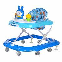 BAMBOLA Ходунки ЗАЙКА (8 силик.колес,игрушки,муз) 5 шт в кор.(70*60*54) BLUE Голубой, фото 1