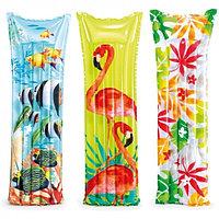 INTEX Пляжный матраc для плавания Fashion 183 х 69 см, INTEX, 59720NP, Винил, Двухкамерный, Цвета в ассорт