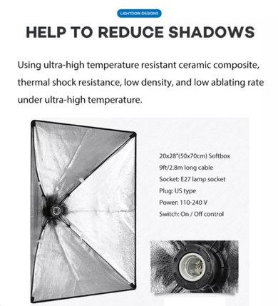 Софтбокс 50Х70 см студийный на одну лампу, фото 2