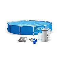 Каркасный бассейн Intex 366 х 76 см с фильтром 28212, фото 1