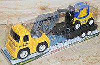 2293c-4 Трейлер экскаватор с прицепом + погрузчик 37*13см