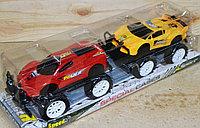 3188-2 Спортивные машинки 2шт с большими колесами вездеход 42*12см