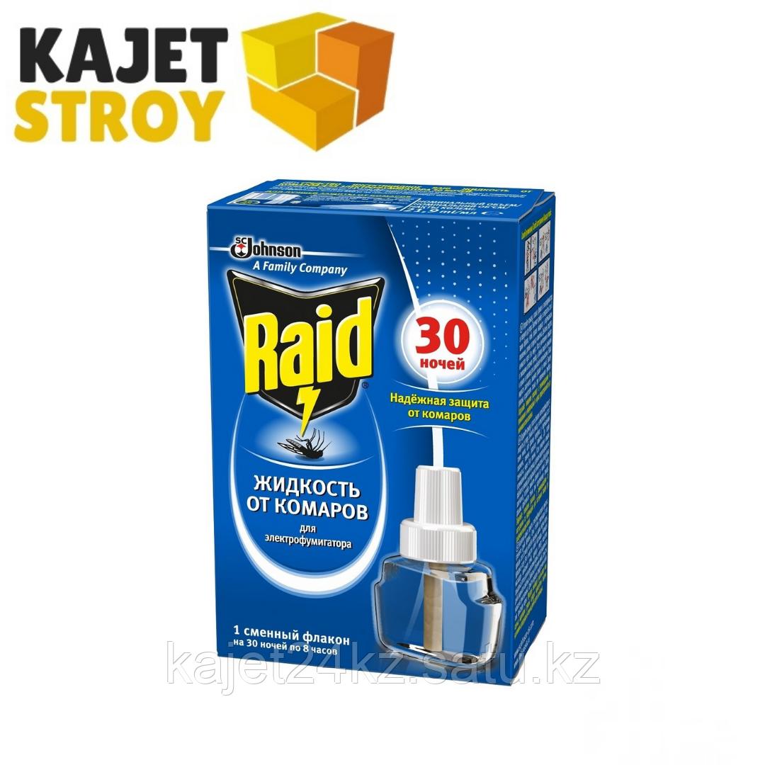 Raid фумигатор от комаров + жидкость 30 ночей
