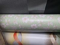 Красивая скатерть клеенка для стола с цветами